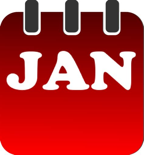 january clipart january calendar clip at clker vector clip