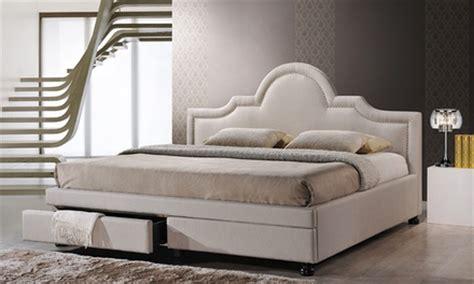 Upholstered Bed Deals Brisbane Upholstered Storage Bed Groupon Goods