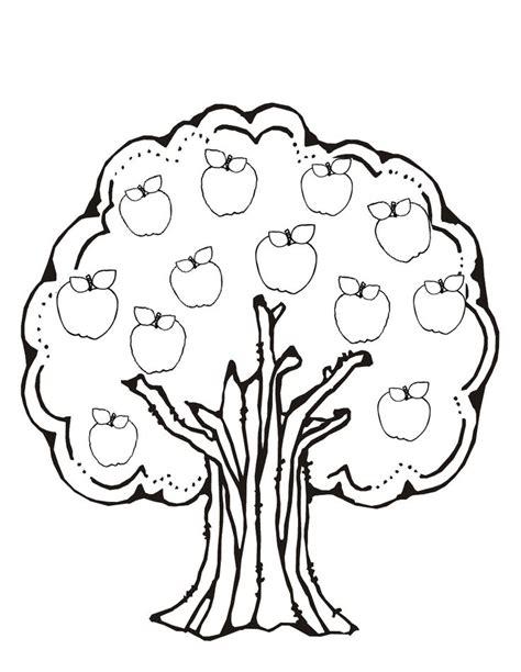 preschool coloring pages apple tree 51 best fruit kleurplaten images on pinterest
