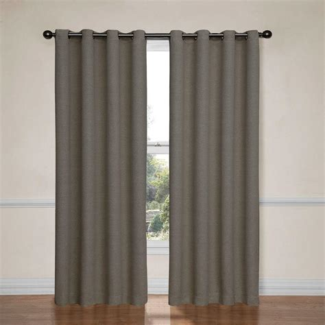 eclispe curtains eclipse bobbi blackout pewter polyester curtain panel 84