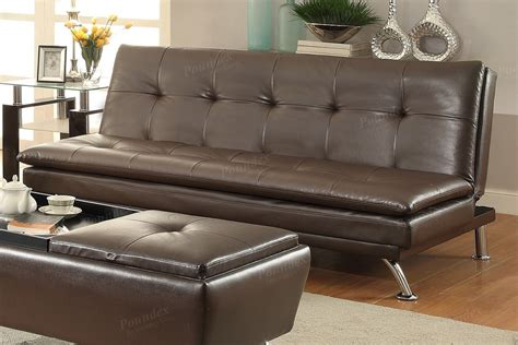 Brown Faux Leather Futon by Brown Faux Leather Futon Sofa Bed
