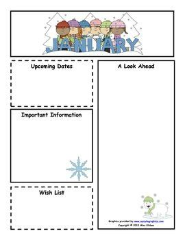january newsletter template 1000 images about class newsletter on