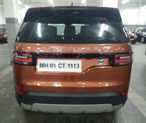 land rover rear 2017 land rover discovery demo vehicle spotted in india