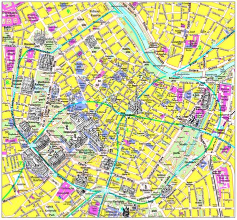 vienna map large detailed tourist map of center vienna city center vienna city large detailed tourist map