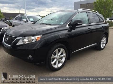 lexus 2010 black pre owned black on black 2010 lexus rx 350 awd review