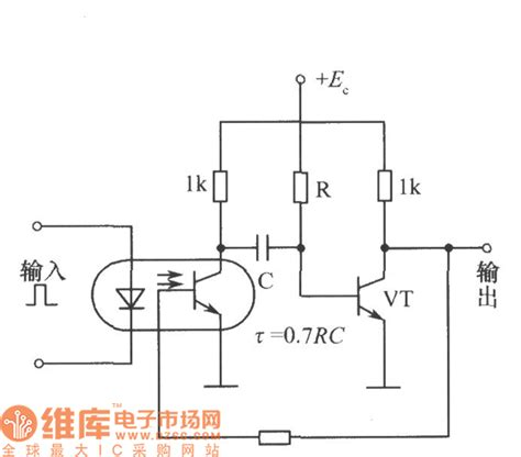 photoelectric sensor circuit diagram the single steady circuit of photoelectric couplers