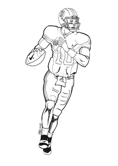 coloring page of a football player cam newton coloring pages coloring home