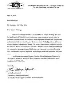 Homeowners Association Letter Templates by Sandpiper Golf Villas Hoa Is Impressed With Empire S