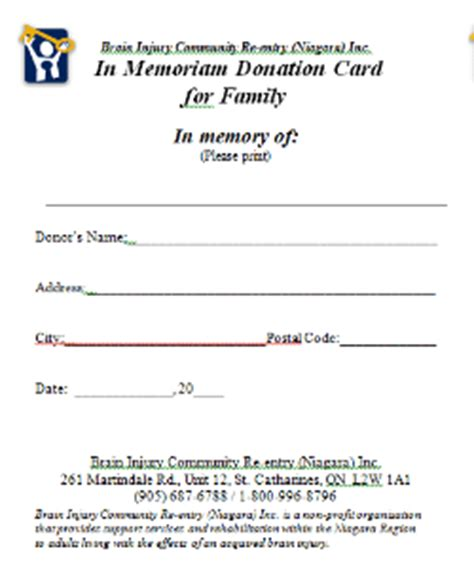 cemetery receipt template you can make a difference donations brain injury