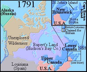 maps of canada from 1700 to 1862