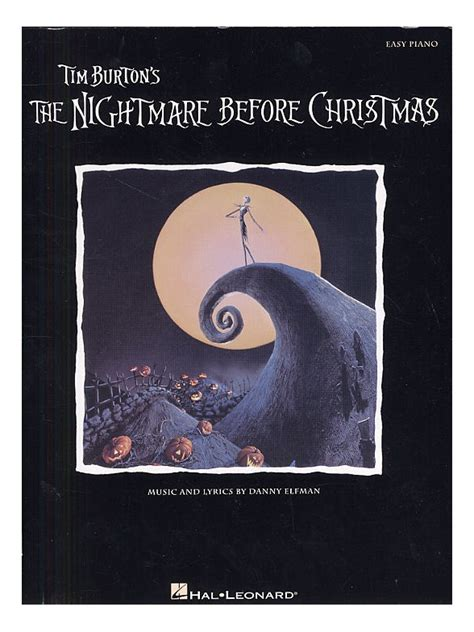 danny elfman recording nightmare before christmas sheet music danny elfman the nightmare before christmas