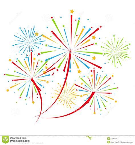 fuochi d artificio clipart fireworks on white background vector illustration stock