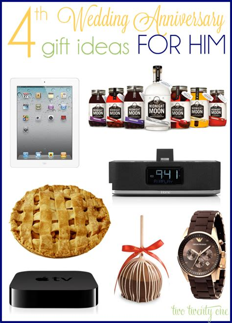 gift ideas for him 4th anniversary gift ideas