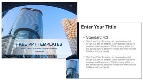 Modern Architecture Real Estate Powerpoint Templates Architecture Powerpoint Templates