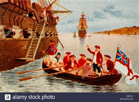 english boat flags flight of lord dunmore passengers in rowboat with