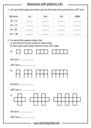 Pattern Worksheet Tes | common worksheets 187 pattern sequence worksheets ks1