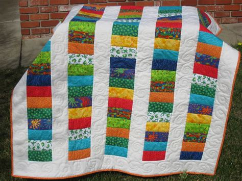 Child Quilt by Handmade By Molly Stacked Coins Baby Quilt