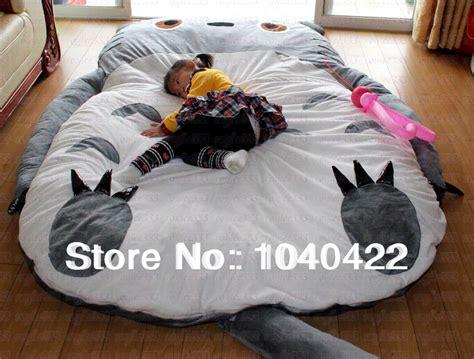 big bean bag bed free shipping giant cartoon sleeping bed mattress totoro
