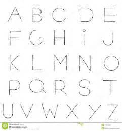 dashed line alphabet set stock vector image 44803058