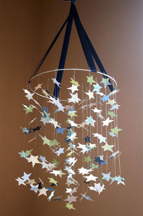 Impresive Canvas Shade Navy baby blue mobile great for baby shower gifts