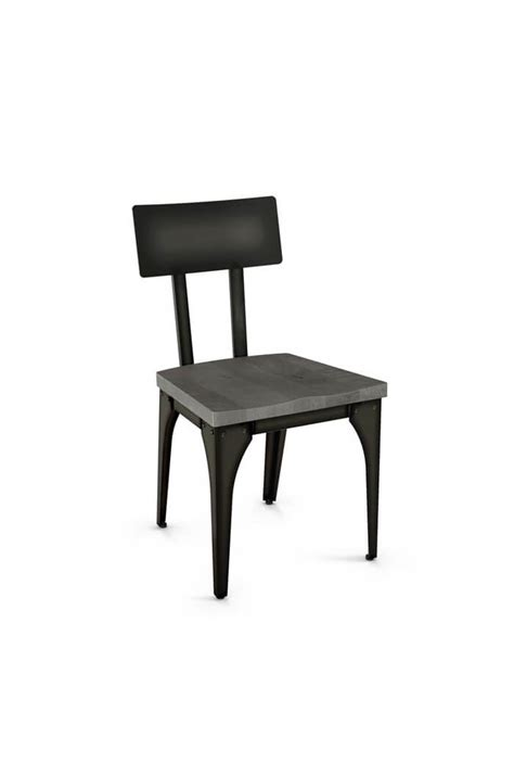 Wood And Metal Dining Chairs Amisco Architect Modern Industrial Dining Chair Free Shipping