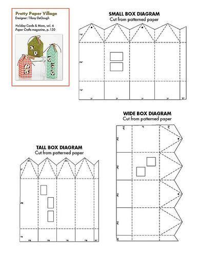 free printable small house favor box template aboutcom home 29 best images about templates paper houses on pinterest
