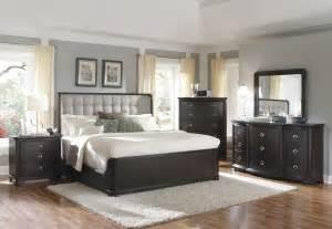 chic bedroom furniture sets giant upholstered headboard