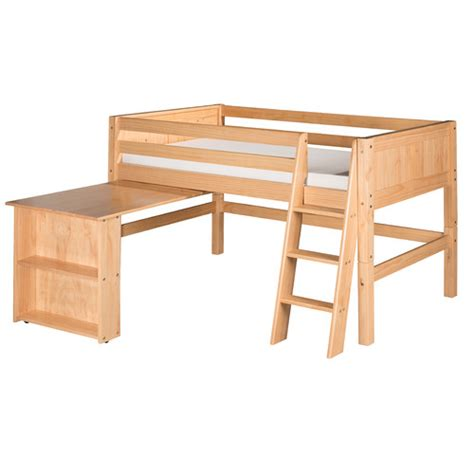 wayfair loft bed with desk low loft bed with retractable desk and panel headboard