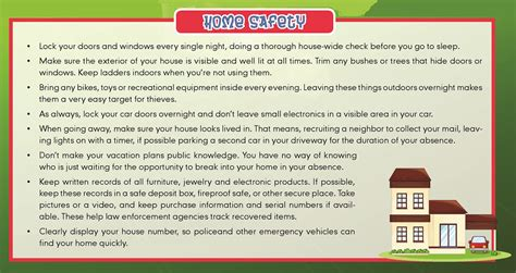 tips home safety tips