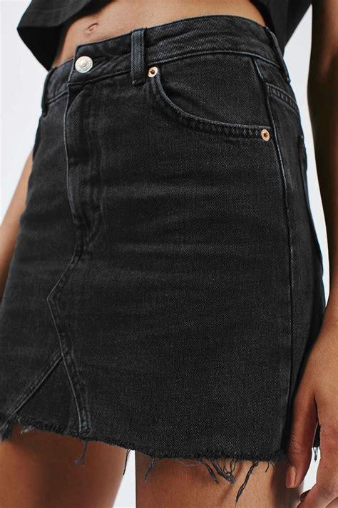 best 25 black denim skirt ideas on black