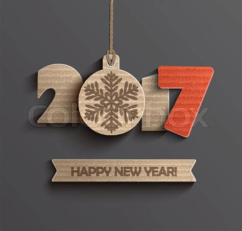 new year s creative numerology creative happy new year 2017 design vector illustration