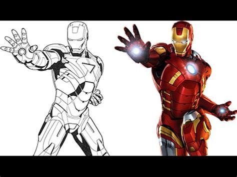 imagenes epicas de marvel pintando a iron man super heroes de marvel dibujos