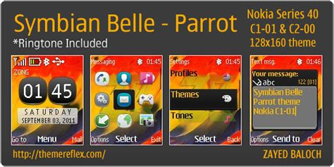 theme editor symbian belle symbian belle parrot theme for nokia c1 01 c2 00