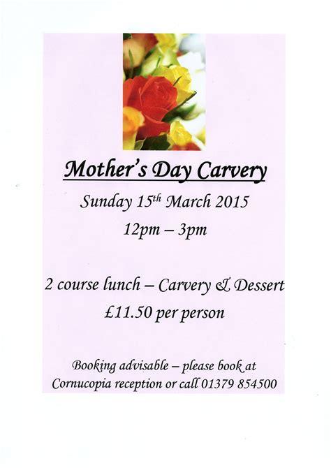 s day rating uk mother s day carvery harleston cornucopia