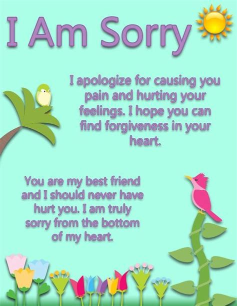 Apology Letter To Friend Miss Birthday 27 Best Images About Sorry On Forgive Me Printable Cards And Forgive Me Quotes