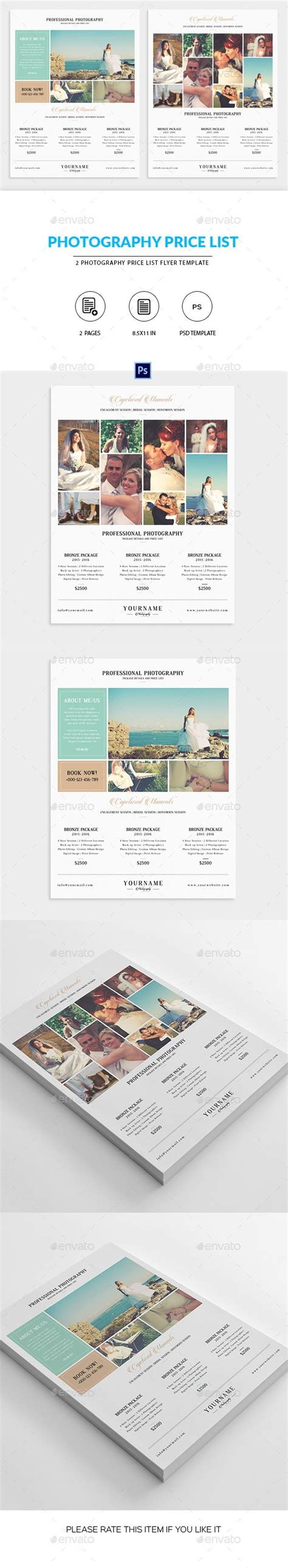 25 Best Ideas About Photography Price List On Pinterest Photography And Videography Canon Videography Price List Template