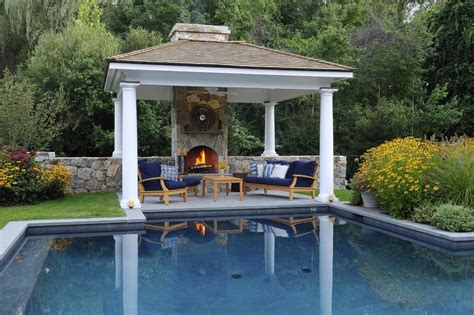 Pool Gazebo Pool Side Cabana Designs Ideas