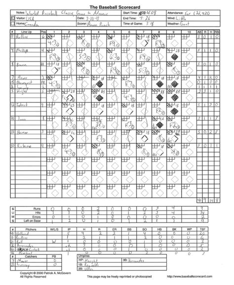 softball score sheet 14 free pdf documents download free
