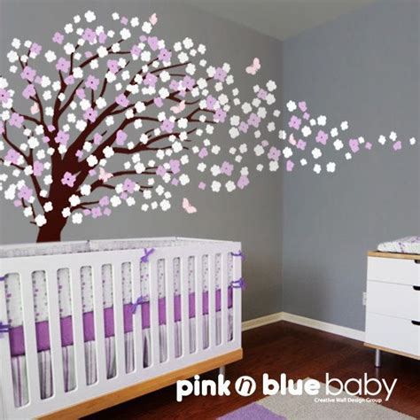 nursery wall decal cherry blossom tree wall