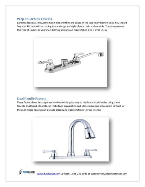 different types of kitchen faucets types of kitchen sink faucets