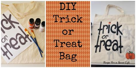 trick or treat diy trick or treat bag recipe for a
