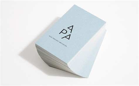architect business card alex poulsen architects business card design inspiration