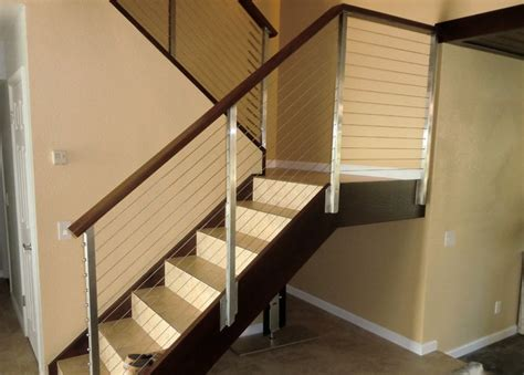 stainless stair railing modern staircase san diego