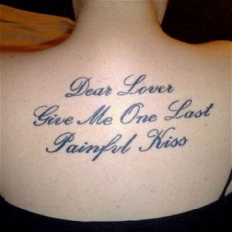 good tattoo quote fonts good tattoo quotes awesome back side quote tattoo ideas
