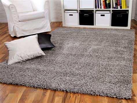 hochflor teppich hochflor langflor shaggy teppich aloha grau teppiche