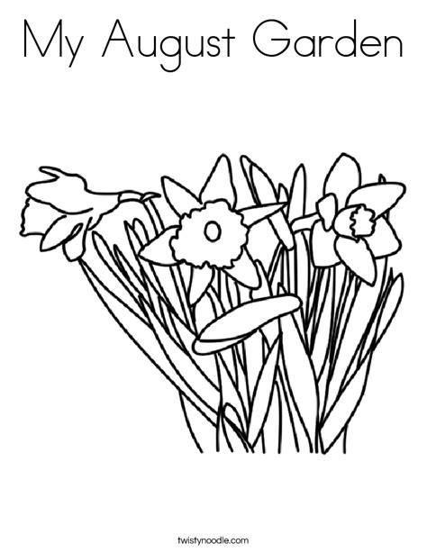 my garden coloring page my august garden coloring page twisty noodle