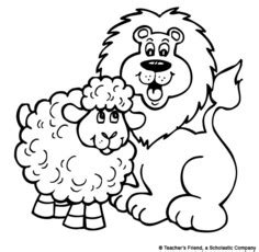 march lion coloring page march lion and lamb printable to color or glue cotton