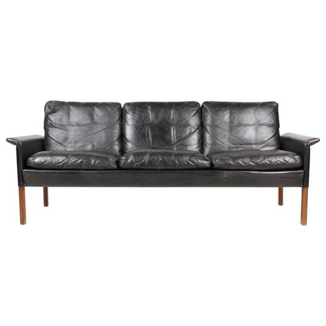 hans olsen sofa sofa in patinated leather by hans olsen for sale at 1stdibs