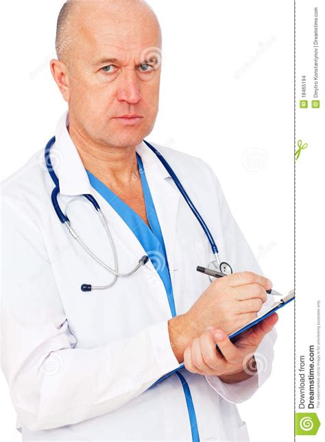 The Doctor S Detox by Serious Doctor Writing Report Stock Photo Image 18465194