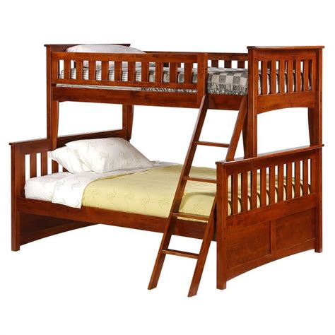 twin and full bunk bed night and day ginger twin over full bunk bed